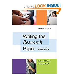 Writing the Research Paper: A Handbook 5