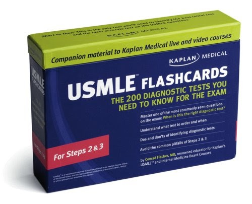 Kaplan Medical USMLE Flashcards: The 200 Diagnostic Tests You Need to Know for the Exam: For Steps 2 & 3 (9781419594533): Conrad Fischer 2