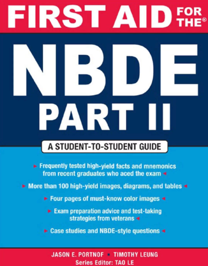 First Aid for the NBDE Part II PDF Free Download