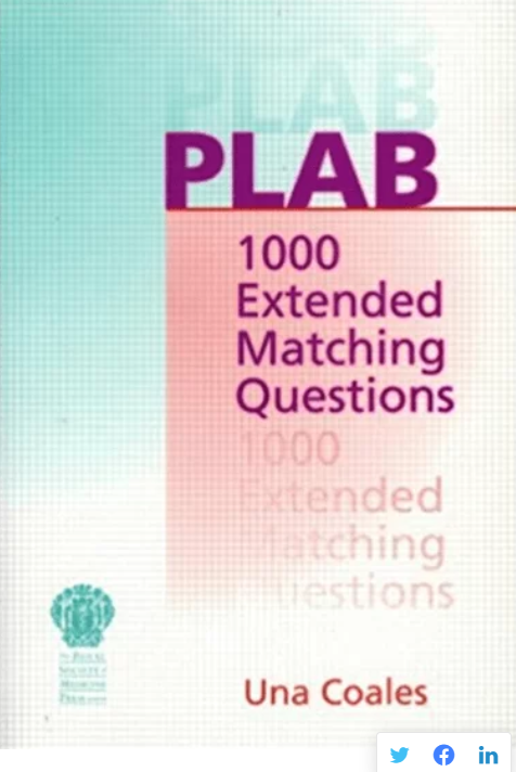 Download PLAB: 1000 Extended Matching Questions PDF Free