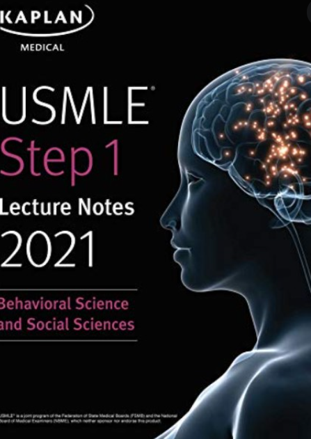 Free Download USMLE Step 1 Lecture Notes 2021 Behavioral Science and Social Sciences PDF